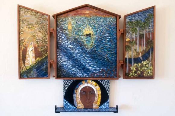 La leyenda del Milagro de la Virgen del Cobre, retablo de Silvia Rodríguez Rivero.