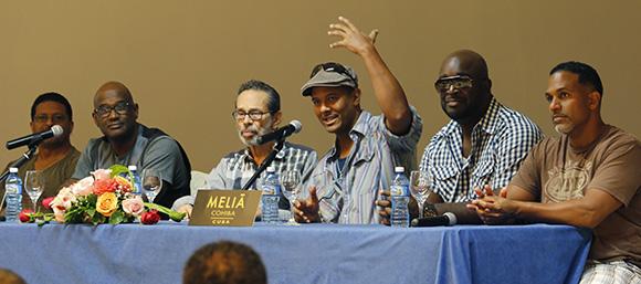 El grupo vocal más premiado de la historia, Take 6, elogió la música cubana. Foto: Paola/ Cubadebate.