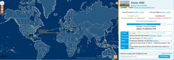 vuelo papa 2.25 pm
