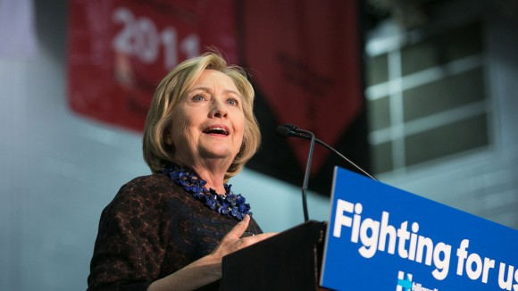 Hillary en Atlanta este 30 de octubre. Foto: Jessica McGowan/Getty Images