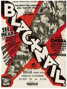 Cartel de la película Blackmail (1929)