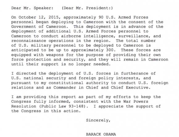 Obama Carta Boko Haram