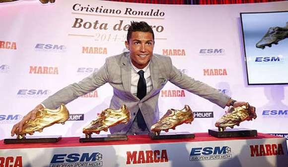 Cristiano Ronaldo es el jugador con más Botas de Oro. Foto  099ab290ba28a