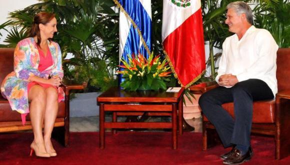 Díaz Canel y Canciller de México Foto Jorge Luis González 580