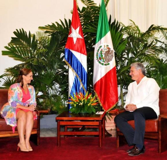 Díaz Canel y Canciller de México reunidos en La Habana, 19 de octubre de 2015. Foto: Jorge Luis González / Granma