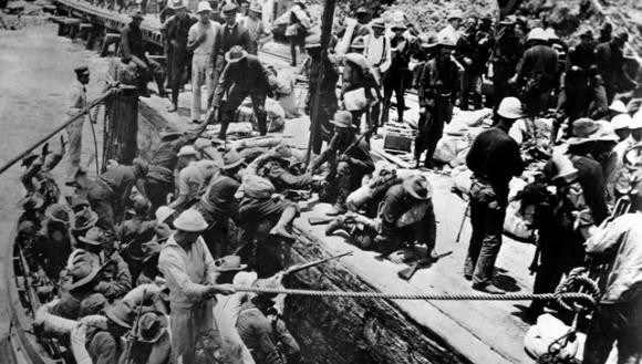 El desembarco de las tropas norteamericanas en Daiquirí, Cuba, a fines de junio de 1898. Foto: Scribners Collection.