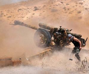 El Ejército sirio respaldado por la Fuerza Aérea rusa lanza ofensiva contra el Estado Islámico. (Foto: AFP.)