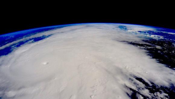 Huracán Patricia visto desde el espacio. (Foto: Cuenta de Instagram del astronauta Scott Kelly.)