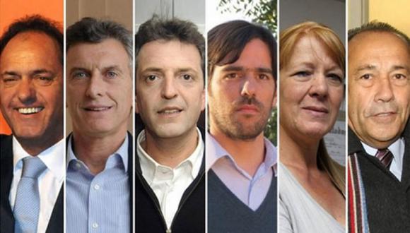 Candidatos en elecciones argentinas. (Foto: Archivo.)
