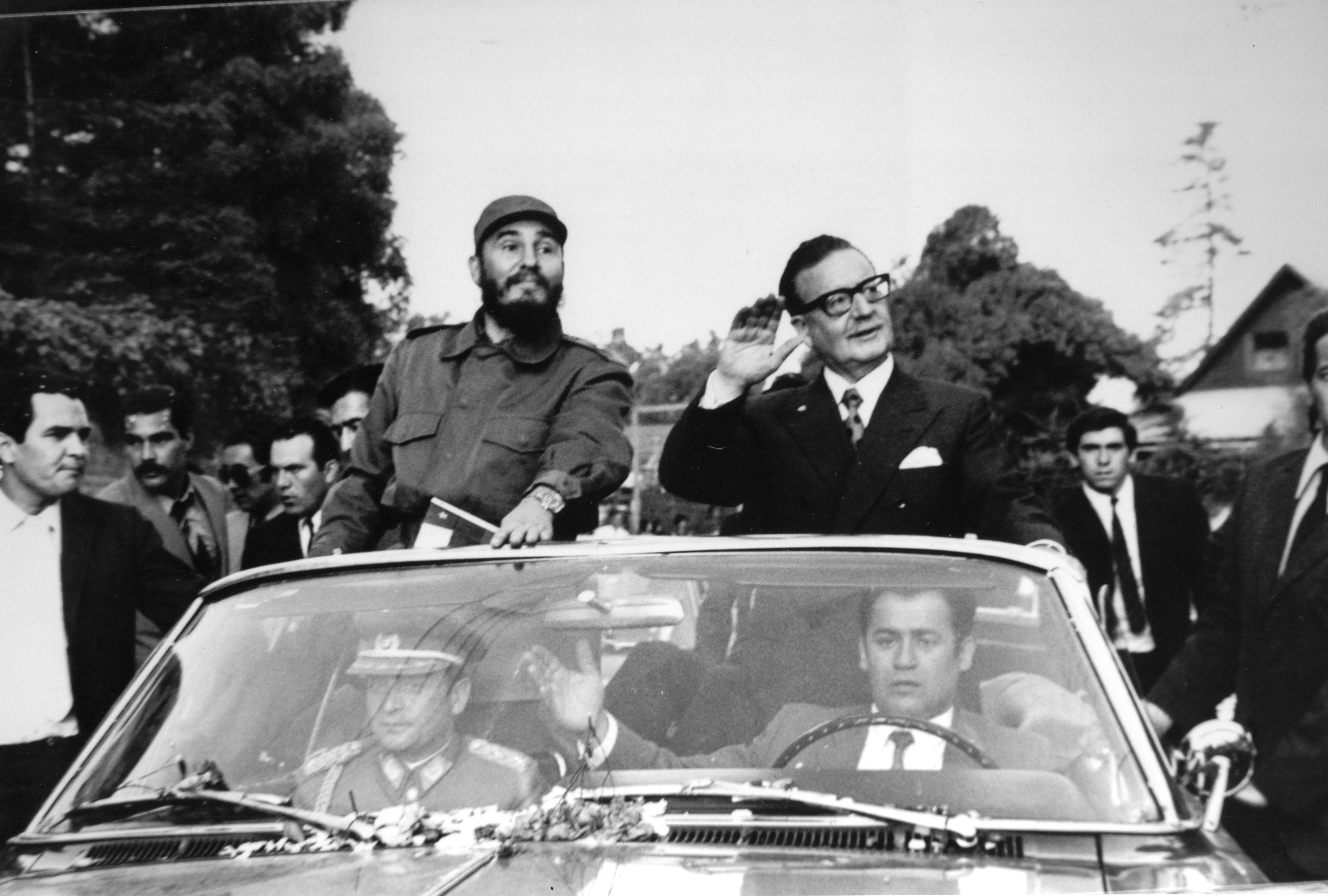 Fidel en Chile. Patán al volante