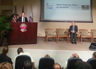 """Dr. David Bernier, Gobernador interino:""""No podemos olvidar el compromiso social en ninguna responsabilidad pública"""". Foto: Cortesía de la autora"""