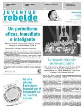 Juventud Rebelde cumple 50: Felicitaciones de Cubadebate