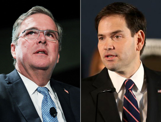 Jeb Bush y Marco Rubio (Foto: Getty Images)