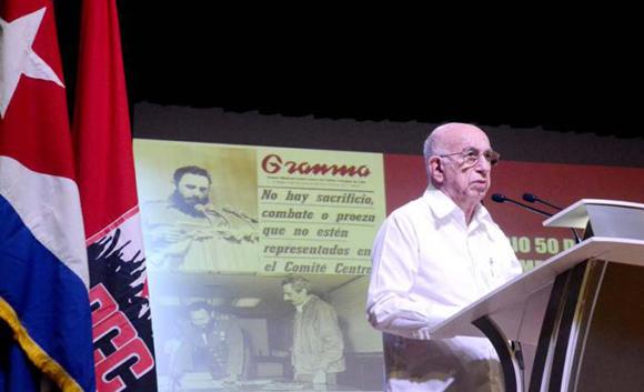 José Ramón Machado Ventura. Foto: Granma / Anabel Díaz