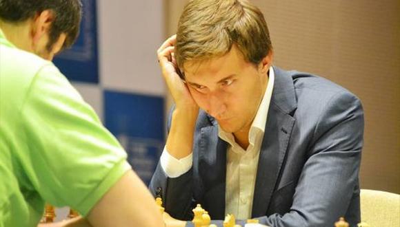 Sergey Karjakin en la final de la Copa del Mundo de ajedrez. Foto: Sitio web del torneo