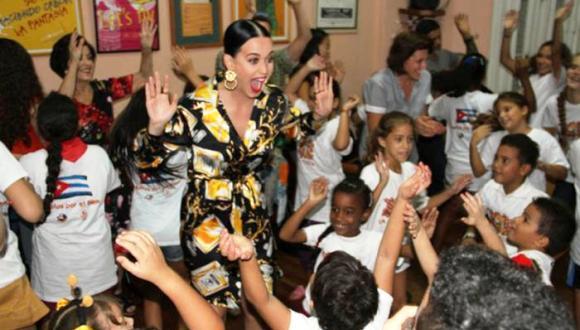 Katy Perry con La Colmenita en La habana, 14 de octubre de 2015. Foto: La Colmenita