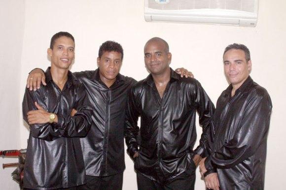 De izquierda a derecha: Karell, Ramón, Jorge y Mario, integrantes de Los Zafiros. Foto tomada de Juventud Rebelde