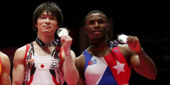 Manrique fue la gran sorpresa del mundial con su Plata en el All Around. Foto: Reuters