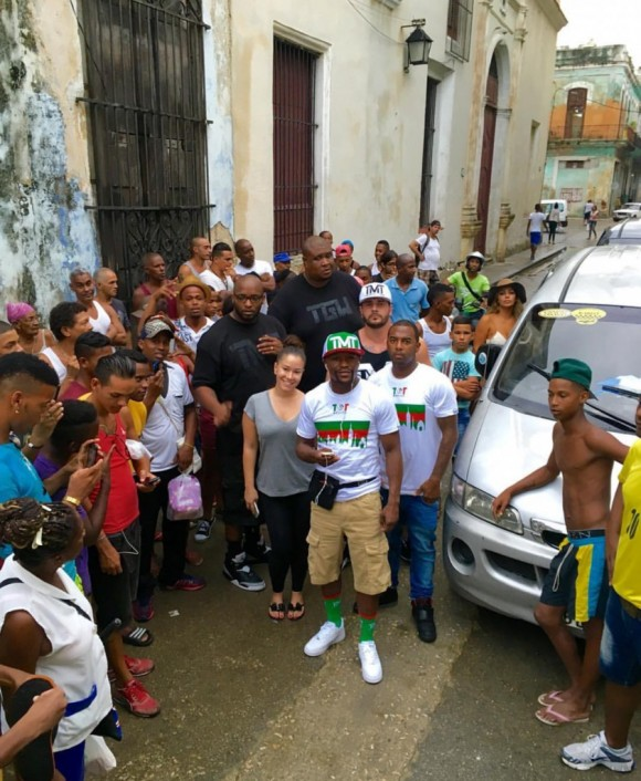 Mayweather en Cuba octubre 2015. Foto: cuenta de Instagram del boxeador