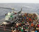 Migrantes rescatados en el Mediterraneo. Foto: Archivo