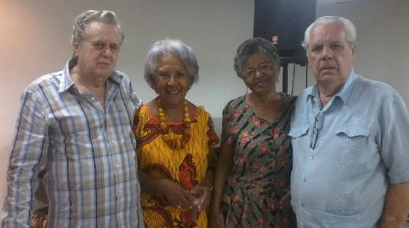 Miguel Torres, Nisia Agüero, Lesbia Vent Dumoi, y Roberto Salas fotógrafo e hijo de Roberto Salas. Foto: Susana Tesoro/ Cubadebate