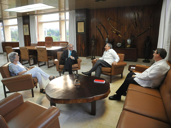 Raúl y Timmerman en La Habana, 9 de octubre de 2015. Foto: Estudios Revolución