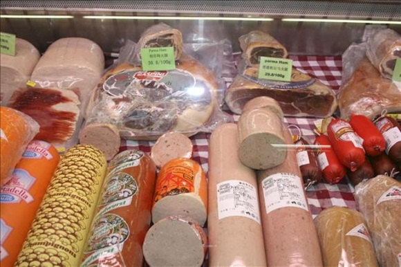 Alimentos, carne procesada. Foto: EFE.