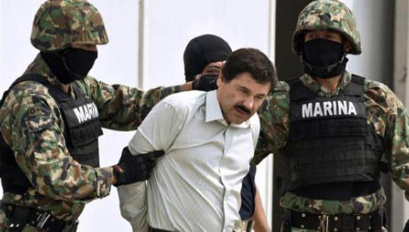 El Chapo Guzman cuando fue atrapado en 2014. Foto: AP