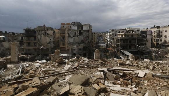 Ciudad siria de Alepo. Foto: Reuters.