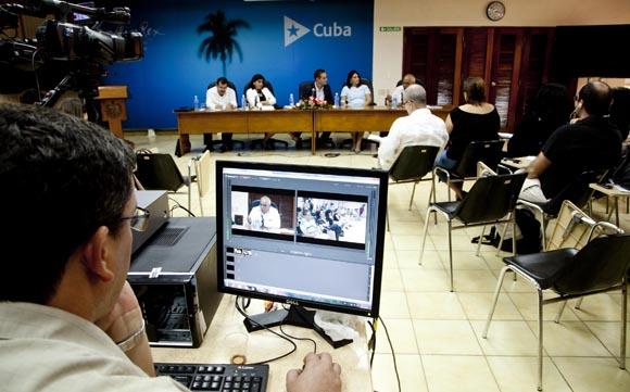 La conferencia fue realizada en el Ministerio de Relaciones Exteriores. Foto: Ismael Francisco/Cubadebate