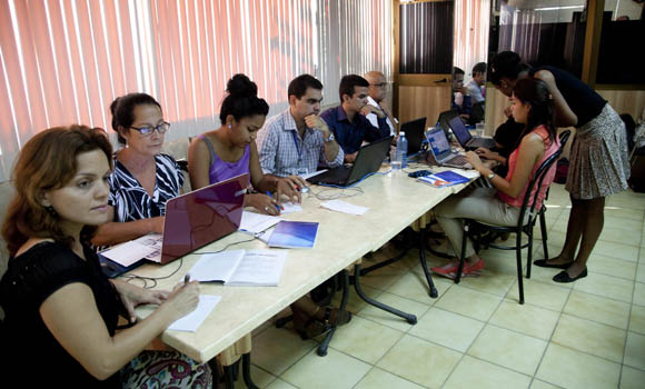 Al acto asistieron periodistas de medios nacionales e internacionales. Foto: Ismael Francsico/Cubadebate