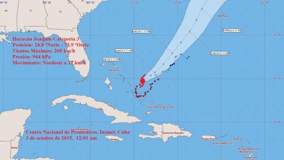 cono huracán joaquín