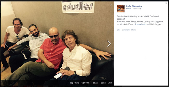 En los estudios Abdala con la cantante cubanoamericana CuCu Diamantes.