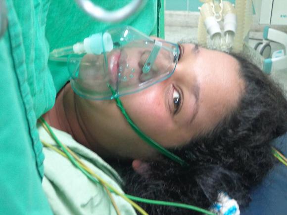 Embarazada Yasmina del Valle Blanco. Foto tomada de Facebook.