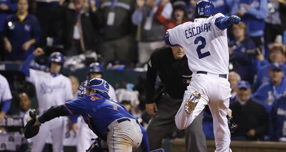 El campo corto venezolano, Alcides Escobar, destacó a la ofensiva por los Mets. Foto: AP/Matt Slocum