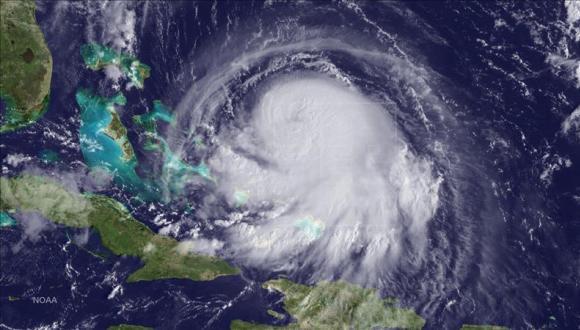 Foto satelital del Huracán Joaquín. Foto: Administración Oceánica y Atmosférica Nacional de Estados Unidos.