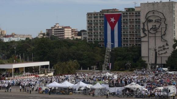 Misa en la Plaza de la Revolución.  Foto: Ismael Francisco/ Cubadebate
