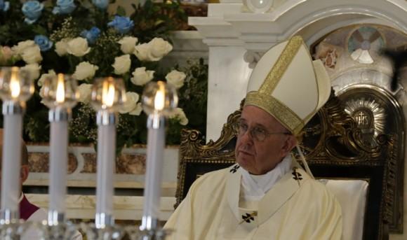 Homilía de Su Santidad Francisco en la Santa Misa en la Basílica menor del Santuario de la Virgen de la Caridad del Cobre. Foto: Ismael Francisco/ Cubadebate