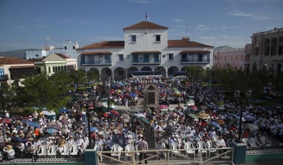 La despedida de Francisco en Santiago de Cuba. Foto: Ismael Francisco/ Cubadebate