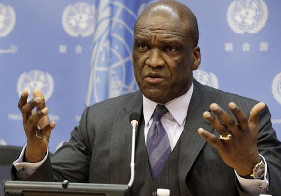 John Ashe, expresidente de  Asamblea General de la ONU. Foto: AP.