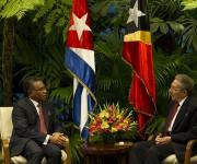 Raúl recibió al primer ministro de Timor-Leste. Foto: Ismael Francisco / Cubadebate