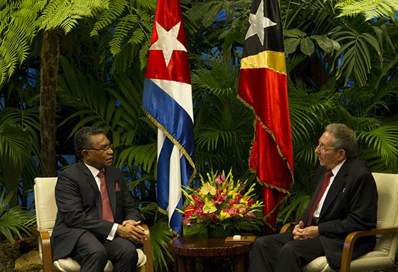 Recibe Raúl Castro a primer ministro de Timor Leste
