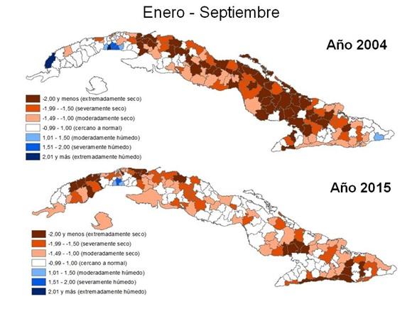 Precipitaciones en Cuba. Fuente: INRH.