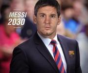 Lionel Messi como entrenador del FC Barcelona. Foto: Top Eleven