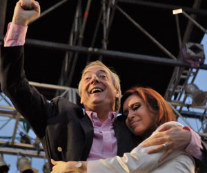 Néstor Kirchner y Cristina Fernández.