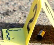 Un casquillo de bala en la escena de los hechos. Foto: AP.