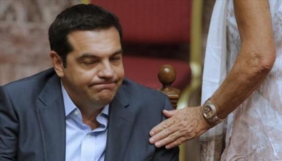 Primer ministro de Grecia, Alexis Tsipras, en el Parlamento. Foto: Reuters.