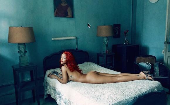Producción fotográfica con Rihanna para Vanity Fair, a cargo de Annie Leibovitz