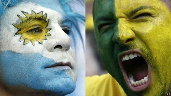 Argentina y Brasil son las selecciones con más historia en el fútbol de este continente. Foto: AP