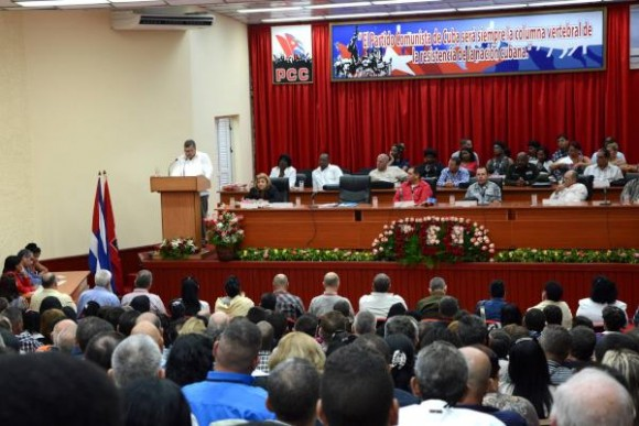Asamblea de Balance del PCC en Ciego de Ávila. Foto. Osvaldo Gutiérrez Gómez/ACN